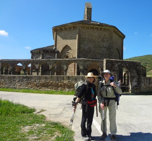 5 Kirsten and me at the Romanesque Church of Santa Maria de Eunate.